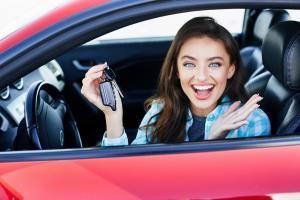 Cheaper car insurance, red car